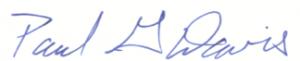 paul davis signature