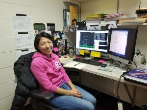 Yuki Sugimoto at her desk