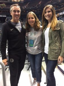 Casey Pam and Hannah at a basketball game in Charlotte.