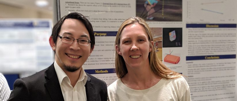 Masa Yamada and advisor Louisa Raisbeck together at The 3MT Competition